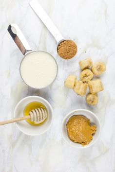 1 frozen banana 1 cup unsweetened milk (nut, soy, animal) 1 tablespoon natural peanut butter 1–3 teaspoons unsweetened cocoa powder Honey or maple syrup, to taste