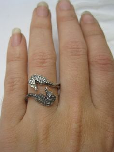seahorse ring by artformsinnature on Etsy, $75.00