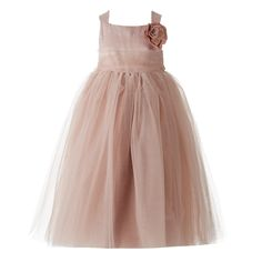 RJR.John Rocha Designer girl's pink mesh corsage dress- at Debenhams.com