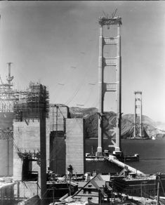 Both Towers from San Francisco August 1935