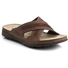 Batz Alex Leather Slip-on Mens Sandals Clogs, Brown, EU 46, UK 11 Mens Slip On Sandals, Leather Sandals, Leather Slip Ons, Leather Men, Tong Cuir, Most Comfortable Sandals, Male Fashion Trends, Driving Shoes, Timberland Mens