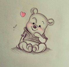 Disney Art~ Winnie the Pooh! - Disney Art~ Winnie the Pooh! You are in the right place about Disney Art~ Winnie the Pooh! Disney Drawings Sketches, Cute Disney Drawings, Art Drawings Sketches Simple, Cute Animal Drawings, Pencil Art Drawings, Cartoon Drawings, Easy Drawings, Drawing Disney, Unique Drawings