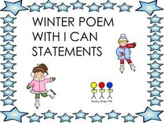 Winter Poem with I can statement