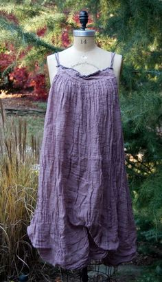 Image of Magnolia Pearl Linen Gauze Fannie Slip with Shirring and Under-Ties $248  **LAST ONE**