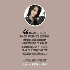 La hermosa modelo venezolana @paulangelgualdron recibió su esperado Box Tumaqui. - Gracias @tumaqui por consentirme con este súper makeup . Chicas si son tan coquetas como yo no dejen de suscribirse en @tumaqui porque podrán recibir también el suyo por tan solo 25$ mensuales y lo mejor de todo es que son productos 100% originales. - #tumaqui #makeup #maquillaje #tips #belleza #contorno #makeuplover #makeuprevolution #labios #lipstick #iluminador #vidademaquilladora #gloss #blogger #envios…