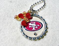 Check out this item in my Etsy shop https://www.etsy.com/listing/160704574/nfl-san-francisco-49ers-pendant
