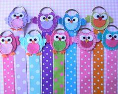 Owl Hair Bow Holder Hair Clip Holder Barrette Holder with Polka Dotted Ribbon
