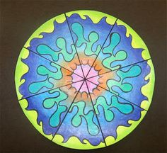 Rotational Symmetry project- math and art- Splish Splash Splatter: 4th Grade- there are a ton of good project ideas on this site!