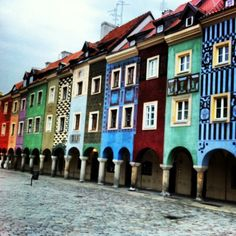 A city with colorful architecture that I wanna see! Poznan