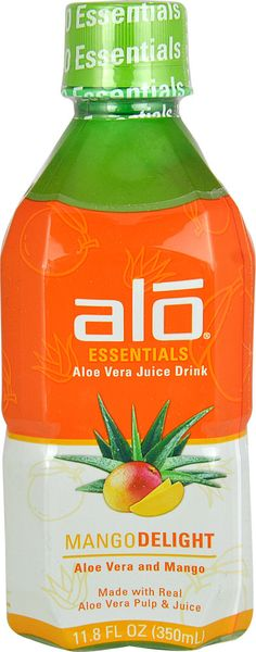 $1.69 ALO Essentials Aloe Vera Juice Drink Mango Delight -- 11.8 fl oz - Vitacost