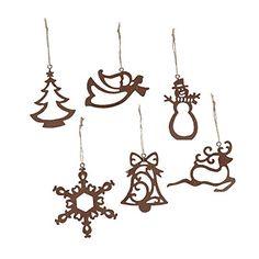Laser-cut Ornaments (12 Ct)- Christmas Tree, Snowflake, Reindeer, Angel and Snowman. Oriental Trading Company http://www.amazon.com/dp/B005EYXPKO/ref=cm_sw_r_pi_dp_uWKmwb1SSF3FY