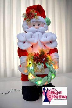 Santa, Merry, Christmas Ornaments, Holiday Decor, Home Decor, Ideas, Xmas Decorations, Girl Baptism Party, Christmas Crafts