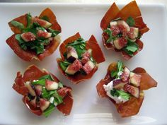 Savory Prosciutto Cups. Look wonderful!  ... Southern Thanksgiving Menu {Starters and Snacks}