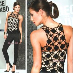 Diy Crafts - top,Women-Top de Crochet: The Effective Pictures We Offer You About Women Top date nights A quality picture can tell you many things. T-shirt Au Crochet, Mode Crochet, Crochet Shirt, Crochet Woman, Cotton Crochet, Crochet Stitches, Crochet Gratis, Crochet Tops, Crochet Chain