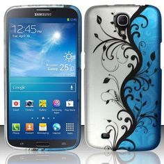 450d2c45dc Zizo Rubberized Design Case for Samsung Galaxy Mega 6.3 - Blue Vines