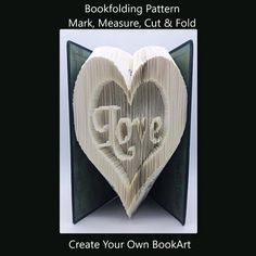 Folded Book Art Heart Love Christmas Valentines by TheGiftPage