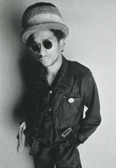 Don Letts wearing a Vivienne Westwood parachute top, photographed by Sheila Rock, 1977.