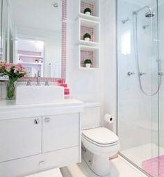 banheiro pequeno decorado branco