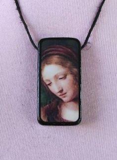 Old Masters Art Domino Madonna Pendant Necklace by Pixxistix. $10.00, http://www.etsy.com/shop/Pixxistix?ref=si_shop