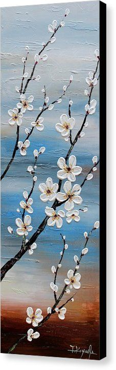 Cherry Blossoms Canvas Print by Tomoko Koyama. All canvas prints are professionally printed, assembled, and shipped within 3 - 4 business days and delivered ready-to-hang on your wall. Choose from multiple print sizes, border colors, and canvas materials.