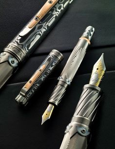 Blancpain & Grayson Tighe Series 1 Pen Collaboration - These have a beautiful art deco design!