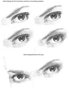 Drawing People Step by Step   How To Draw Realistic Eyes Step By Step
