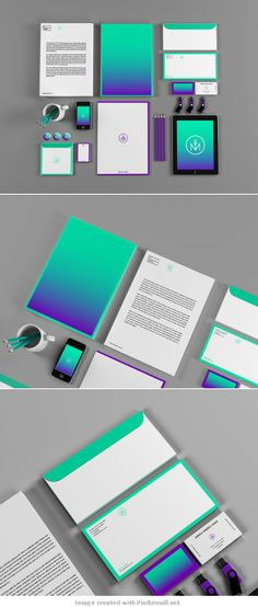 Match Ideas – Identity Design. I really like the use of the gradient and the colors.