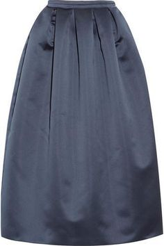 Formal yet pretty, in love with this Pleated satin midi skirt #skirt #women #covetme #rochas