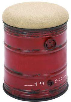 Industrial Factory Shop Machine Style 18 Stool Seat Modern Metal Art Oil Drum | eBay