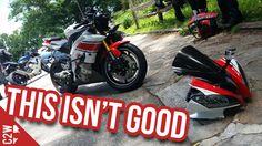I crashed my motorcycle