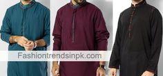Latest Kurta Salwar for Men Pakistani Suit Designs for Summer. Indian Men kurtas Pajama Catalogue Ban Neck Facebook Men Dresses Pictures.