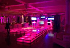 LED platforms for rent can create the perfect illuminated dance floor, stage or fashion runway. Dec out your next event in a memorable NYC fashion with these LED risers that can be lit up by wireless, remote controlled LED lights and programmed to any color or lighting pattern. Find out more: http://www.proavrentals.net/products/rent-pro-led-8-acrylic-riser #proavsource #proavrentals