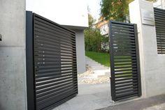 Linea aluminium fence. www.aludom.pl