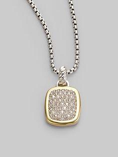 David Yurman Diamond, 18K Yellow Gold & Sterling Silver Necklace