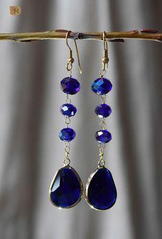 Earrings - night blue  MY HANDMADE YEWELRY https://it.pinterest.com/mteresacostanzo/my-handmade-jewelry/