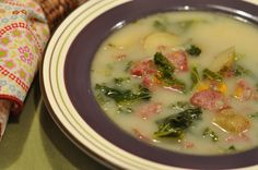 Mennonite Girls Can Cook: Potato, Kale, Farmer Sausage Soup. looks a lot like Grandma Braun's Bean Soup just a few different ingredients. and LOTS OF DILL! Farmer Sausage, Sausage And Kale Soup, Sausage Potatoes, Amish Recipes, Soup Recipes, Cooking Recipes, Budget Recipes, Savoury Recipes, Lunch Recipes