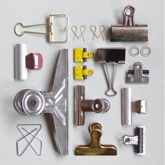 "Clip party .... an example of ""knolling"" where items are set at right angles to each other. Just arranging neatly is not strictly knolling."