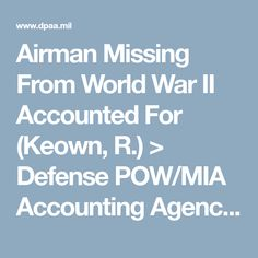 Airman Missing From