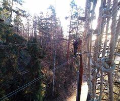 Seikkailupuisto Huippu, punainen rata, Huippu tree top Adventure, red course, Hochseilgarten Huippu, rote Route