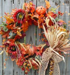 """Fall Wreaths for Front Door 