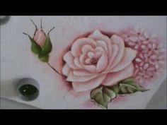 Dicas de pintura grátis - Rosas para iniciantes 2 - pintura em tecido. - YouTube