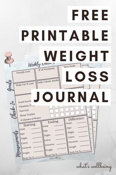 Don't leave your success to chance! Track your progress with our FREE printable weight loss journal. A weightloss journal will help to educate you on . Quick Weight Loss Tips, Weight Loss Help, Diet Plans To Lose Weight, Losing Weight Tips, Weight Loss Plans, Weight Loss Program, How To Lose Weight Fast, Reduce Weight, Weight Loss Rewards