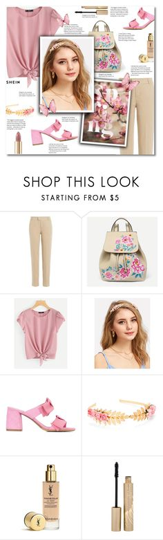 """Spring with shein"" by smajlovicelvira ❤ liked on Polyvore featuring 7 For All Mankind, Tabitha Simmons, Yves Saint Laurent, Stila and Dolce&Gabbana"