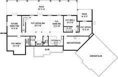 Craftsman European Traditional House Plan 72221 Lower Level