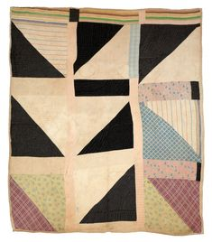 "Martha Pettway - ""Half Squares"" - 1930s Cotton 80 x 73 inches"