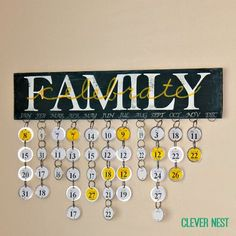 Love this idea for an easy and lightweight alternative for a birthday calendar- balsa wood and Avery key tags! No power tools needed