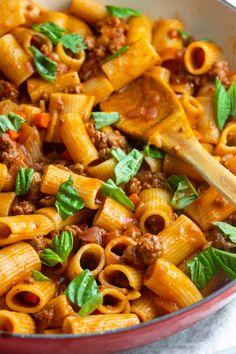 This Pork Sausage Ragu Will Transport You To Tuscany Giada Recipes, Pasta Recipes, Dinner Recipes, Cooking Recipes, Pasta Meals, Pork Pasta, Rice Recipes, Yummy Recipes, Dinner Ideas