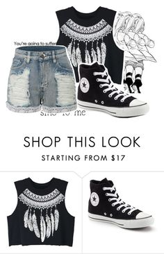 """""""Captain Is King"""" by dogpersononemillion ❤ liked on Polyvore featuring WithChic, Converse, LE3NO, margaritastyle and morneislife"""