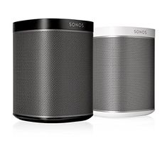 This Multi-Room Audio Package - All-In-One Compact Wireless Music Streaming All-In-One Compact Wireless Music Streaming SpeakerNo other wireless speaker packs so much Hi-Fi sound into such a compact design. Sonos Play 1, Sonos Speakers, Music System, Gifts For Dad, Streaming Music, All In One, Room, Black White, Organic