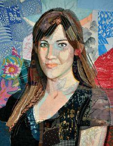 "Art Quilt, Karlee Abbott (Commission)  34 "" x 40 ""   Jan,  2011  By Gabrielse"